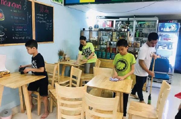 Tiệm Cafe - Trà hoa quả VK